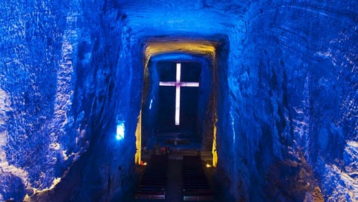 Underground church in a salt mine ... Zipaquira cathedral.