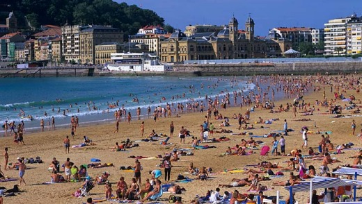 San Sebastian, Spain. If you can't have fun here, you're doing something wrong.