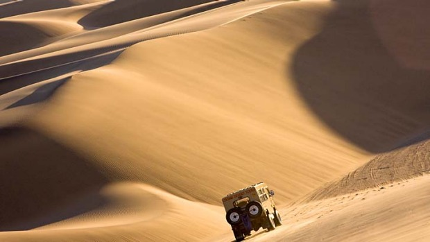 Way out of Africa ... sand dunes outside Swakopmund.