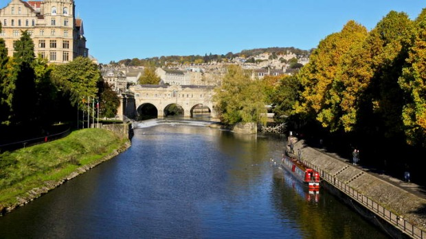 The River Avon ... Austen spent most of her Bath years living on the east side of the river. Photo:  Alamy.?