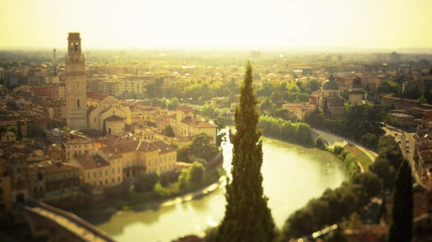 Romance by the River Adige … Verona glows at at sunset.