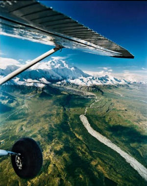 Looking down on Mount McKinley.