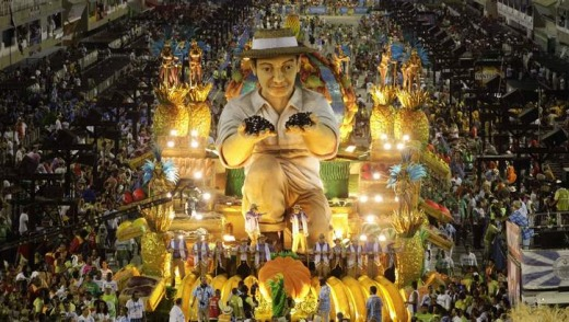 The world's breadbasket ... Unidos de Vila Isabel samba school has been crowned the winner of this year's Carnival parade.