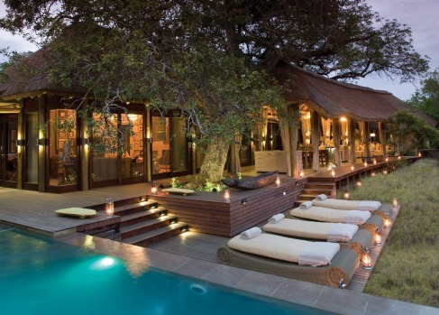 Spot gazelles, zebras and elephants from the pool at  Vlei Lodge or the Homestead at the Phinda Private Game Reserve, ...
