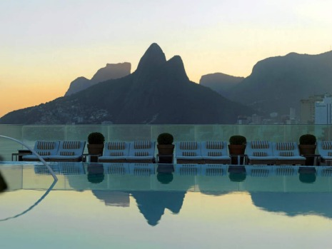 It's a pool with views to Ipanema Beach and the statue of Christ at the  Philippe Starck-designed hotel in Rio de ...