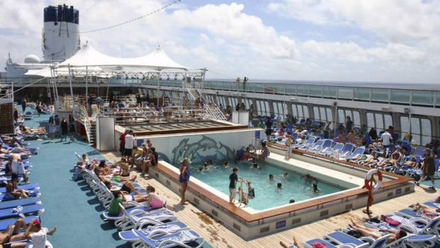 Fun in the sun ... around the pool on the Pacific Dawn. But cruises cater to all interests, from gastronomy to philanthropy.