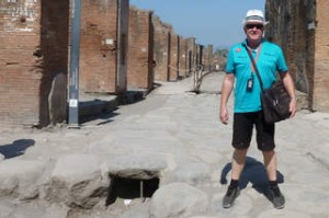 SHD TRAVEL 20 JAN. shore excursions 2013. Garry Partridge in Pompeii. Supplied