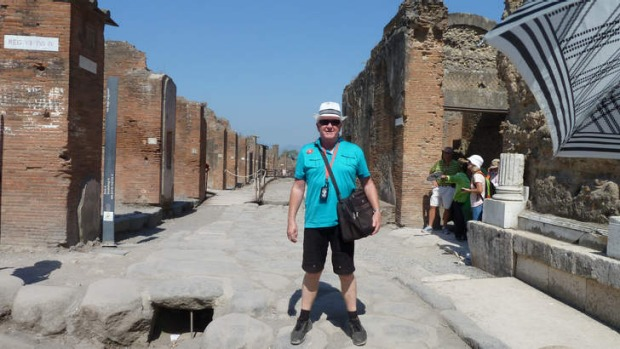 Garry Partridge in Pompeii ... money well spent.