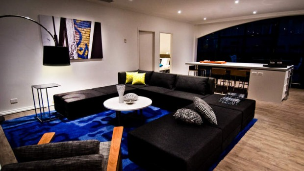 Funky design...one of the rooms at Melbourne's new Ovolo Hotel.