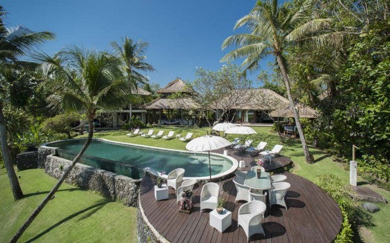 10. Sungai Tinggi, Canggu. Built for house parties, the living pavilion of this beachfront villa in Canggu is designed ...