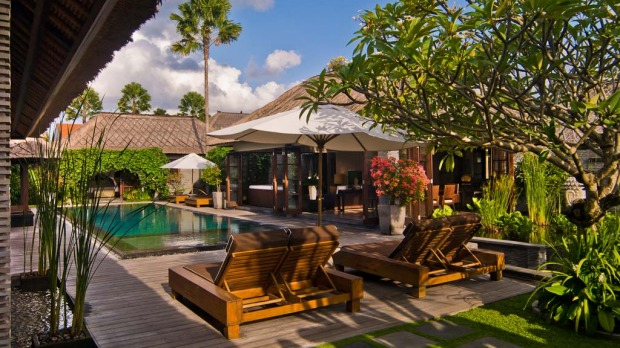 1. Sentosa Villas, Seminyak. Set at the bottom of Jalan Petitenget, Seminyak's most happening street, Sentosa's villas are glamorous and luxurious, as guests such as Olympic swimmer and Balinese royal in-law Michael Klim can attest. Costs: From $US420 ($405)/one bedroom, $US550/two bedrooms.