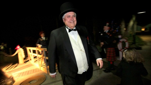 Clive Palmer hosts the Captain's Atlantic Dinner as part of the week-long Titanic Culinary Journey at the Palmer Coolum ...