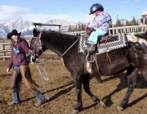Outdoor adventure ... a pony trail on Rafter Six Ranch, Kananaskis.