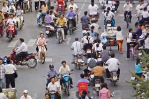 Ho Chi Minh, Vietnam. Photograph by Getty Images. SHD TRAVEL FEBRUARY 10 HO CHI MINH SCOOTER TOUR. DO NOT ARCHIVE.