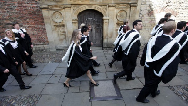 Standards to uphold ... Cambridge University graduates about to make their way in the world.