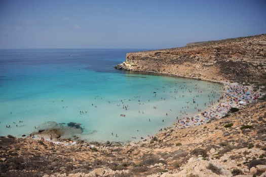 Unspoiled ... Rabbit Beach on the island of Lampedusa off the south coast of Sicily has been named as the best beach in ...