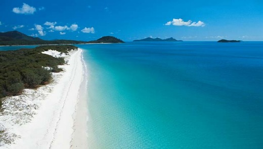Australia's best beach? Whitehaven Beach on Whitsunday Island has been named the third best beach in the world.