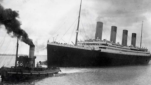 Making history ... the orginal Titanic leaving Southampton on her ill-fated maiden voyage on April 10, 1912.