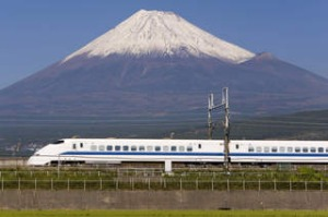 Shinkansen bullet train, Japan. Photograph by Getty Images. SHD TRAVEL MARCH 3 BULLET TRAIN JAPAN. DO NOT ARCHIVE.