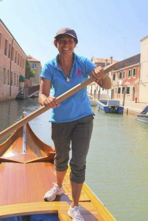 Pioneer ... Jane Caporal, the first registered female rowing instructor in Venice.
