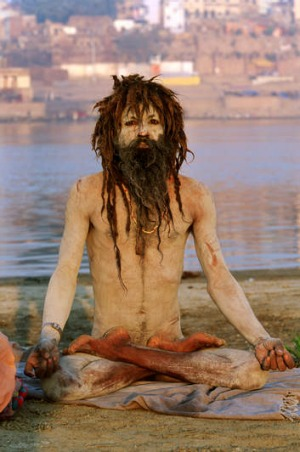 A sadhu, or holy man in Varanasi.