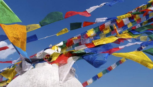Prayer flags in Kathmandu.