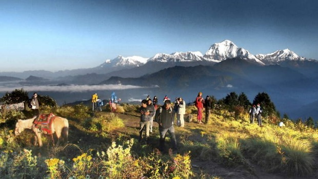 Top of the world: sunrise at Poon Hill.