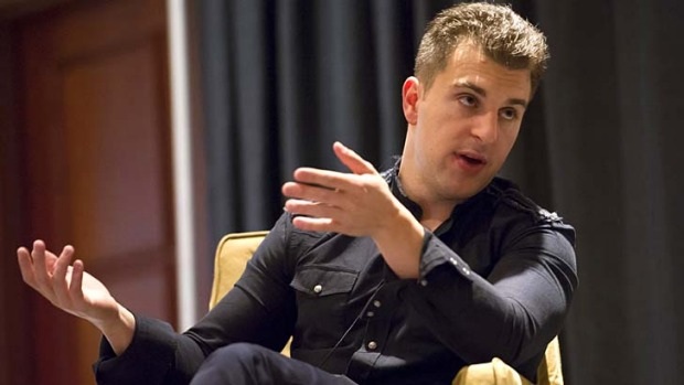 Brian Chesky, co-founder and chief executive officer of Airbnb, is interviewed at the South By Southwest Conference in ...