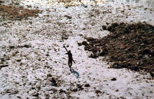 North Sentinel Island. Andaman Islands, Bay of Bengal. North Sentinel Island, which covers only 72 square kilometres, has an indigenous population of somewhere between 50 and 400 Sentinelese, a dark-skinned and short-statured people and one of the last groups on earth to have resisted contact with the modern world. Jealously protective of their isolation, any attempt by outsiders to land on the island is likely to result in a hail of arrows.