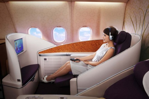First class on board a China Southern Airbus A380.