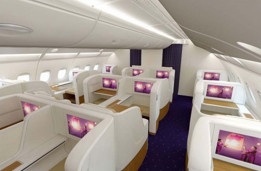 First class on board Thai Airways A380.
