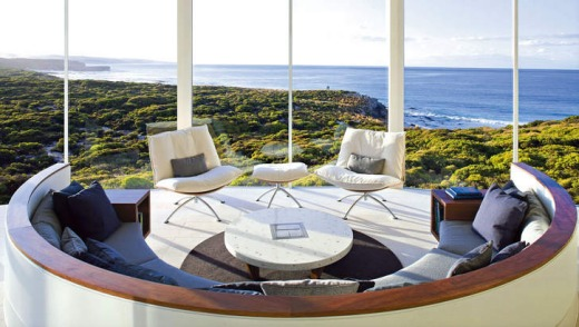 Far horizons … Kangaroo Island's Southern Ocean Lodge, a Maggie Beer favourite.