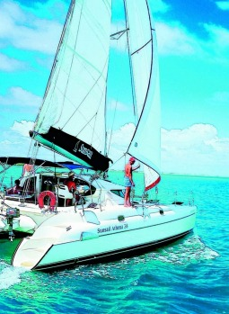 Sunsail yacht charter off Hamilton Island on the Whitsundays. The experience: Kids happy, parents happy. Qantas, Virgin ...