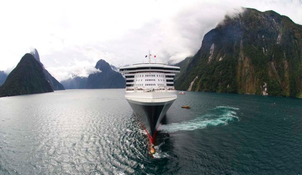 Queen Mary 2 becomes the largest ship to ever sail New Zealand's Milford Sound. The 151,400 tonne ocean liner carried ...