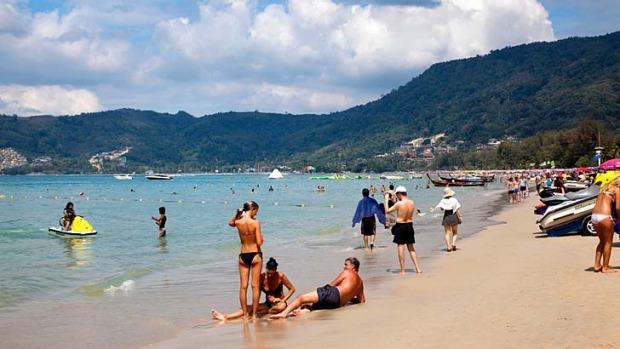 Patong Beach, Phuket ... the tourist region's police chief says a huge boost in police numbers is needed to protect ...