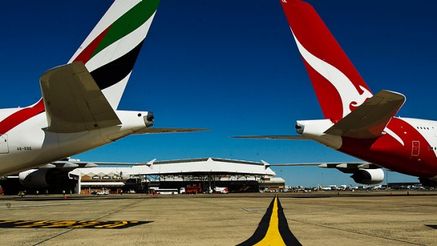 Qantas says its switch from Singapore to Dubai as the stopover destination for its Europe flights will save travellers time.