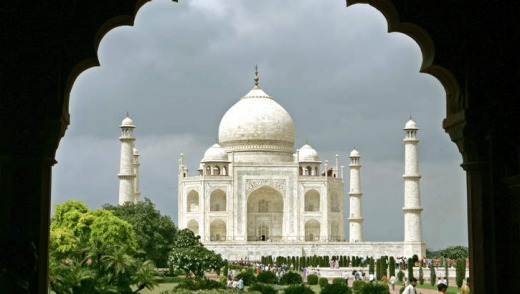 On the itinerary: the Taj Mahal .