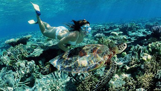 The Great Barrier Reef is among the Australian sites to be visited.