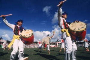 Eisa drum dance, Okinawa, Japan.