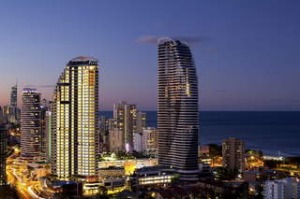 Peppers Broadbeach and the Gold Coast skyline.