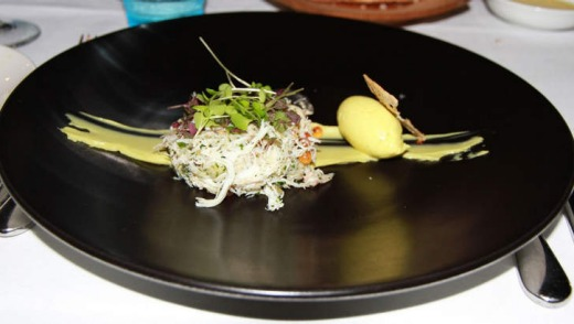 Stokehouse Q blue swimmer crab entree.