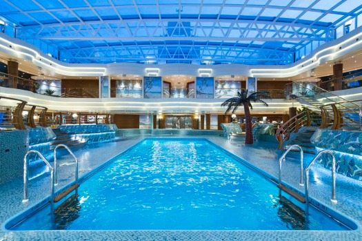 One of the MSC Preziosa's four swimming pools.