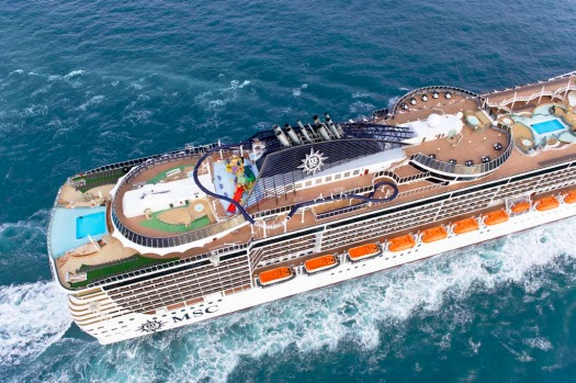 The 333-metre MSC Preziosa has 1751 cabins, 26 lifts, 18 decks, 21 bars, a casino, and four swimming pools.