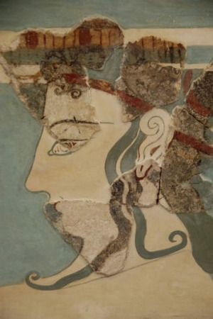 Mycenaean fresco from the National Archaeology Museum.