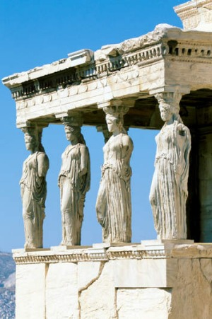 The mighty Caryatids.