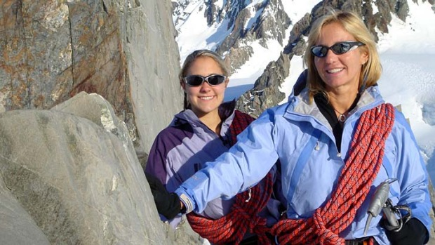 Team spirit: Nikki and Cheryl Bart on Mount Everest.