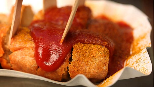 Beer food ... currywurst.