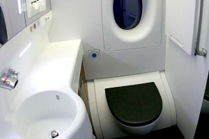 What will a plane toilet be like after 17 hours in the air?