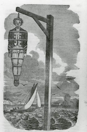 Scottish sailor William Kidd was executed for piracy in 1701.
