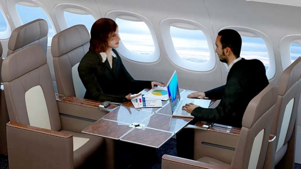 For those tired of lonely, long-haul flights, Zodiac Seats from the USA and Mexico offered the 'Reversible Seat', which ...